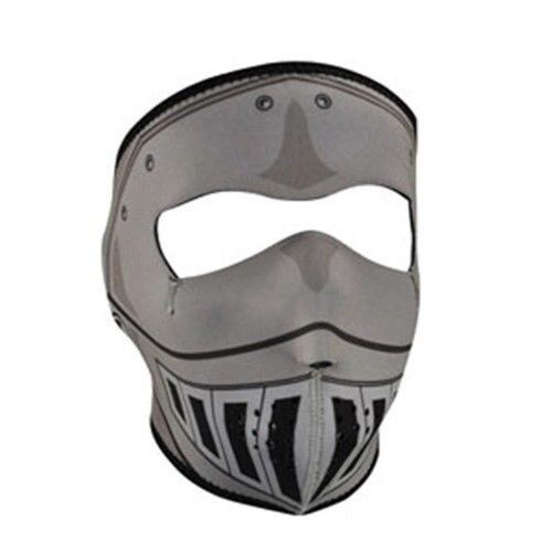 Zan HeadGear Neoprene Full Face Mask Knight Armor Metal Helmet WNFM069