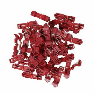 100pcs-22-18-AWG-Scotch-Lock-T-Tap-Car-Audio-Electronic-Connectors-Terminals-Red