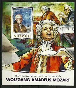 DJIBOUTI-Bloc-Y-amp-T-n-55-260e-anniversaire-de-la-naissance-de-Mozart-Superbe