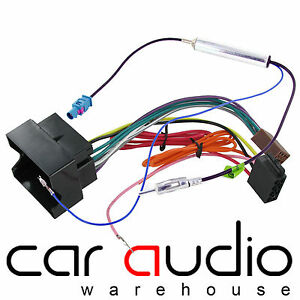 details about vw passat 2005 on car stereo radio iso wiring harness \u0026 fakra aerial antenna