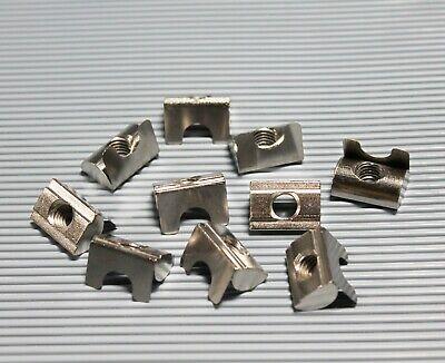 Nutensteine mit Federblech Aluprofil Stahl Nut und Steg M4 M5 M6 M8 Verzinkt
