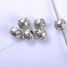 NP113 Wholesale 100pcs Tibetan Silver Spacer Charms Beads 4X5MM