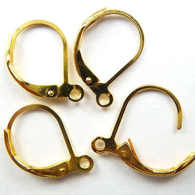 Free Shipping 300pcs gold plated earring clasps 17x11mm