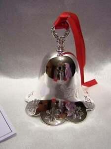 Towle-2007-Annual-Silver-Bell-Ornament-NIB-Christmas-Pierced-Snowflake-Edge
