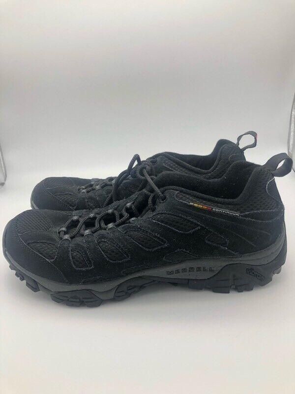 Merrell Mens Moab Ventilator Hiking Shoes Black J39181 Lace Up Low Top Mesh 11 M