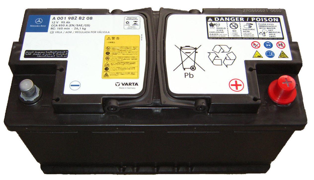 agm batterie 95ah 850a mercedes a0055411001 a0019828208. Black Bedroom Furniture Sets. Home Design Ideas