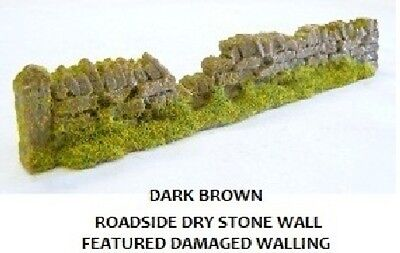 Bello Javis Pw1dbdam 6 X 134mm Random Damaged Dark Brown Dry Stone Wall 00 Gauge 2nd P Vivace E Grande Nello Stile