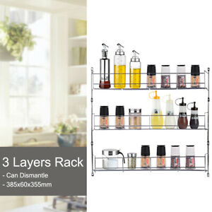 Spice-Rack-Cabinet-Organizer-Wall-Door-Mount-Storage-Kitchen-Shelf-Pantry-Holder