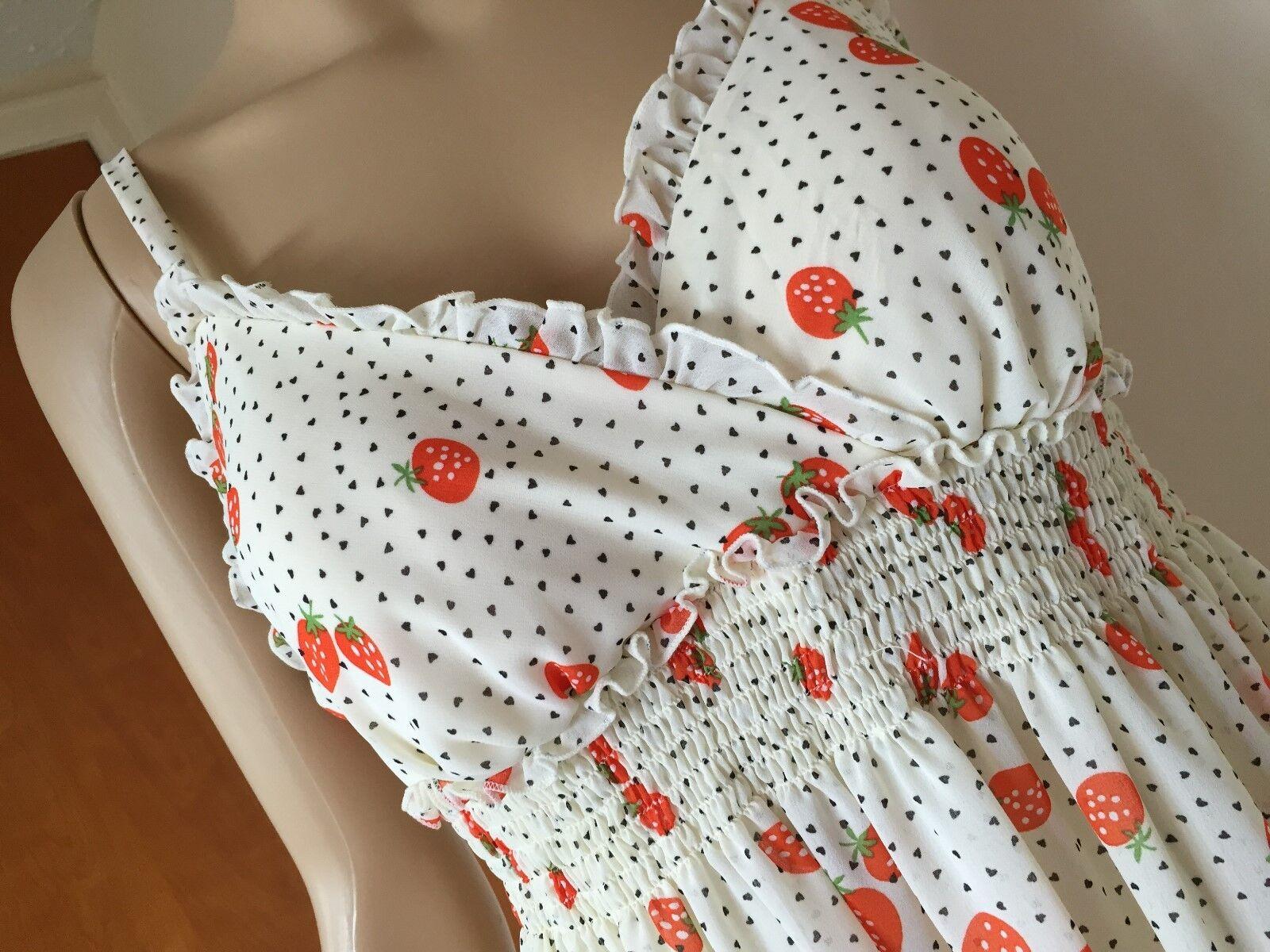 New Breakin Loose dress, Größe 9 10, Ivory, Orange - multi Farbe, poly, sundress