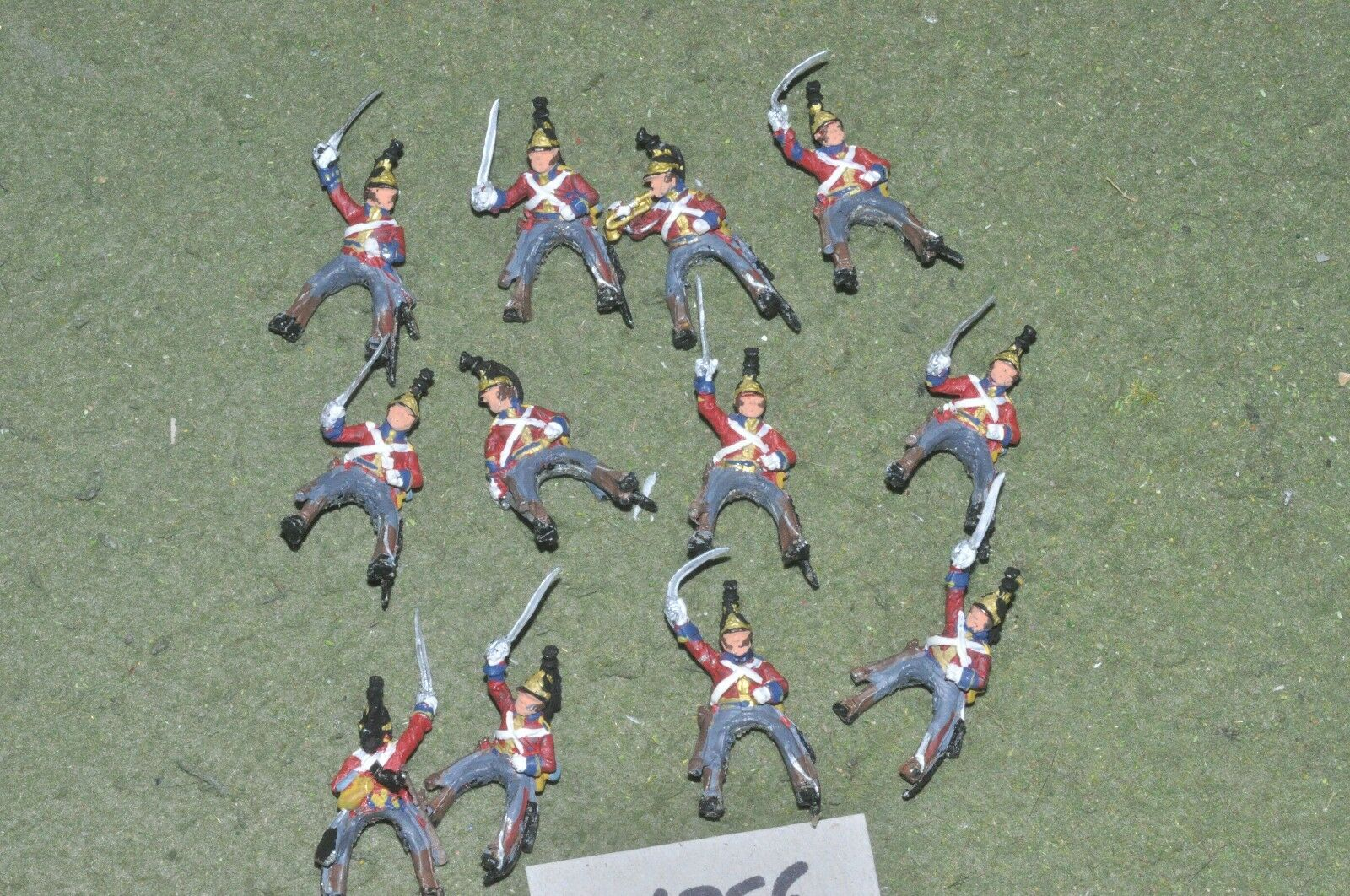 25mm napoleonic   british - troopers only 12 figures - cav (26756)