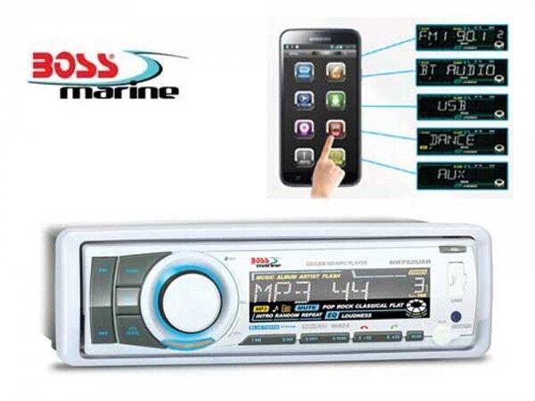 BOSS Marine Radio 240 Watt Fernbedienung Stiefel Yacht MP3 CD USB AM FM RDS CDR