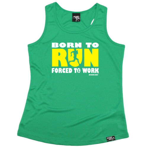 Running Vest Funny Womens Sports Performance Singlet Born To Run