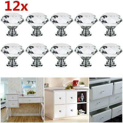 Red Crystal Glass Diamond Knobs Cabinet Door Handles Drawer Csae Pull Knob 30mm