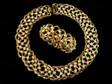 """VINTAGE (PRE-OWNED) CHIC """"NAPIER"""" GOLD PLATED/PEARLS NECKLACE & BRACELET. (A)"""