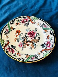 Large-Porcelain-Dinner-Plate-Cauldon-England-Probably-1800s