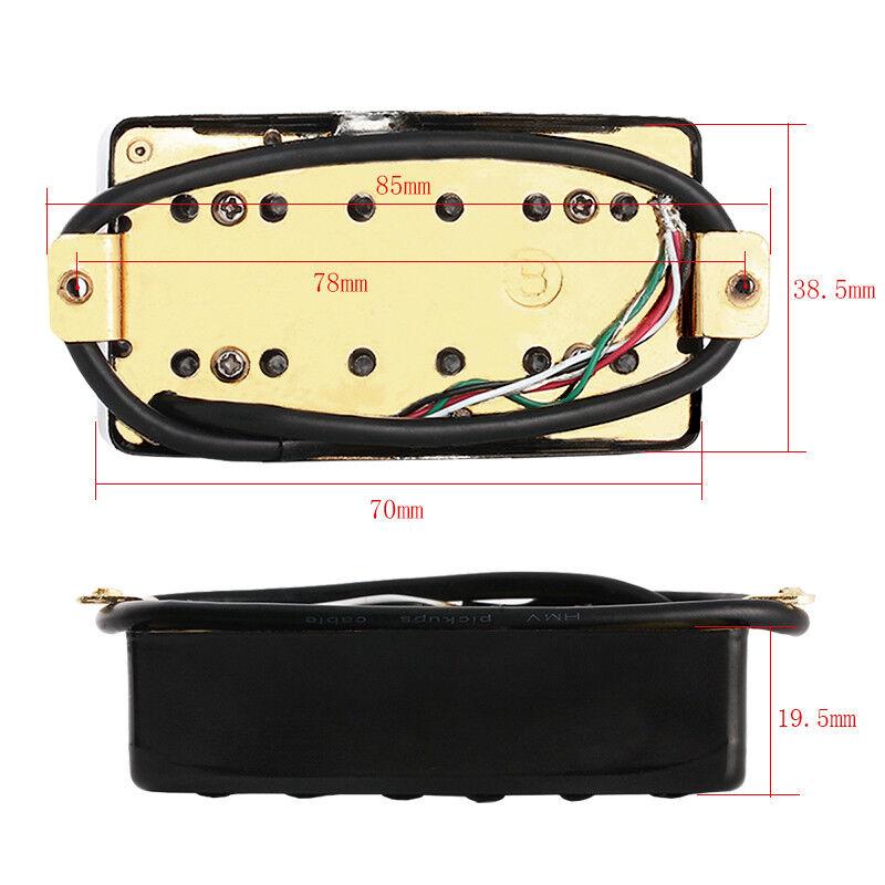 electric guitar pickup humbucker pickups bridge neck set for guitar parts black 634458807784 ebay. Black Bedroom Furniture Sets. Home Design Ideas