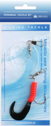 MIKADO Pilk Twist Rig Einzeltwister-Vorfach 4//0 bis 8//0 Dorschsystem Dorsch-Rig