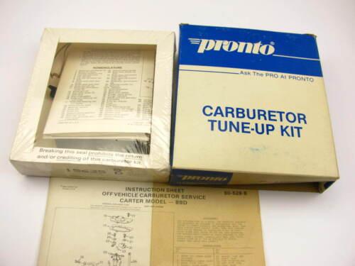 Pronto 10558 Carburetor Rebuild Kit 1976-1990 AMC Jeep 4.2L Carter 2-BBL BBD