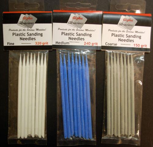 versch Körnung Nadelfeilen Alpha Abrasives Sanding Needles Flexafile