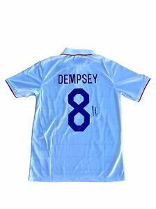68532b60334 Image is loading Clint-Dempsey-USA-Olympics-United-States-Signed-Jersey-