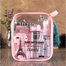 1 Set Travel Bottle Refillable 8 Pieces Emulsion Moisturizing Packing Beauty