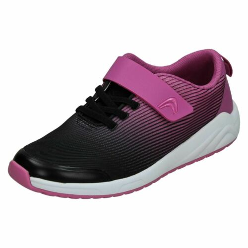 BOYS GIRLS KIDS CLARKS AEON PACE HOOK /& LOOP SPORTS TRAINERS CASUAL SHOES SIZE