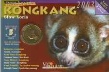 Malaysia Endangered Animal Coin Card no.5 Kong kang  10pcs