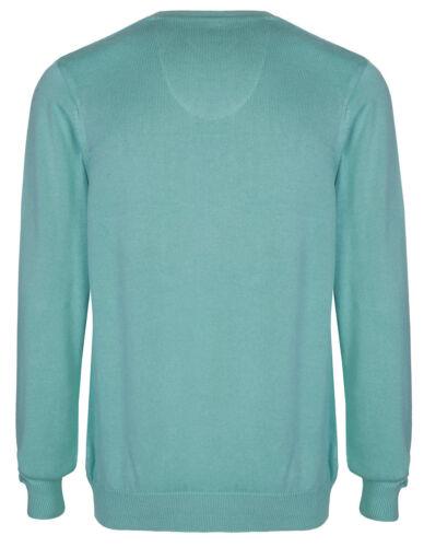 Marks /& Spencer Da Uomo Puro Cotone Collo V Maglione Maglione Nuovo M/&S Pullover Top