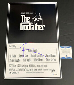 FRANCIS FORD COPPOLA SIGNED THE GODFATHER 12X18 POSTER AUTOGRAPH BECKETT COA 6