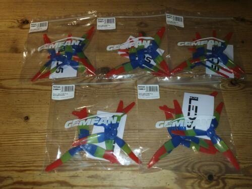 10 pairs 5 packs Gemfan 51466 3 Blade Mck Tinys Leds Rgb freestyle/&racing Prop