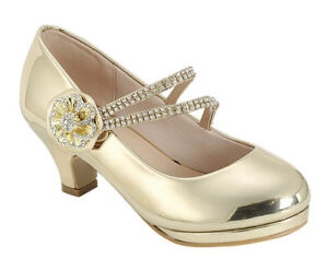 New girl/'s formal dress Wedge wedding round close toe shoes back zipper white