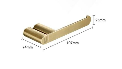 Details about  /American Brushed Gold Paper Toilet Holder Rack Bathroom Roll Tiusse Storage SUS