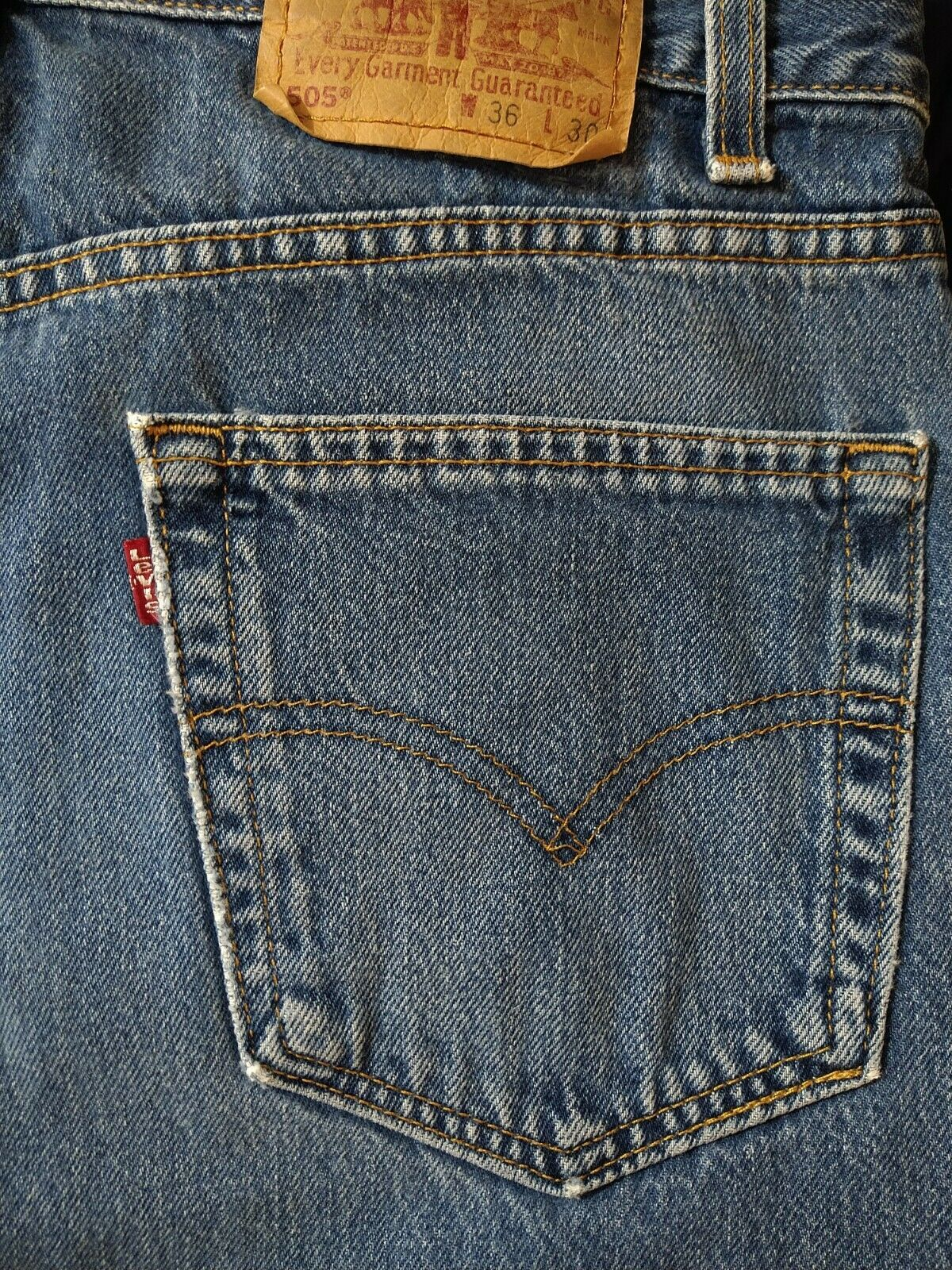 Levi's 505 Jean's Made in the USA Men's size 36x3… - image 9