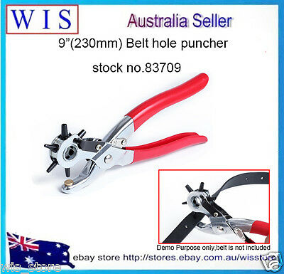 """Revolving Leather Punch Plier 6 Hole Size Tarp Stamp Punch Pliers-83709 9/"""" 230mm"""