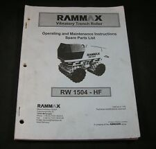 Rammax Rw1504hf Vibratory Trench Roller Parts Maintenance Operating Manual Book