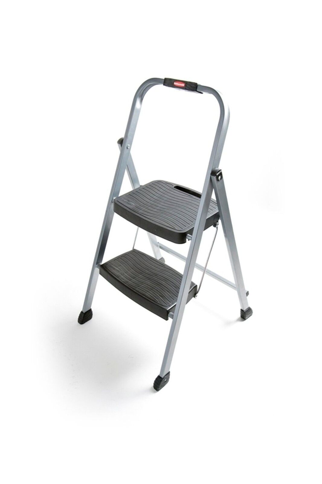 Rubbermaid RM-2W Folding 2-Step Steel Frame Stool with Hand Gri... Free Shipping