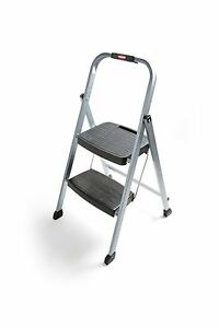 Rubbermaid Rm 2w Folding 2 Step Steel Frame Stool With