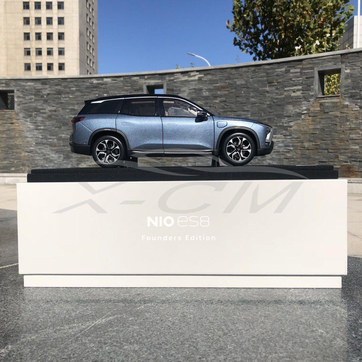 Modello di auto quasi reale Nio Nio ES8 fondatori EDIZIONE 1 18 (Star blu) + piccolo regalo