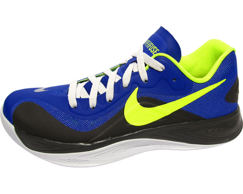 Nike Hyperfuse Low Hyper Blue/Volt/Stadium Grey Men's Basketball Shoes Size 10