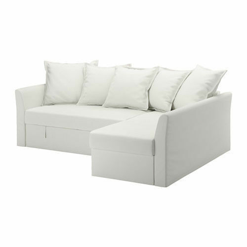 Ikea Holmsund Cover Set For Corner Sofa Bed In Ransta White