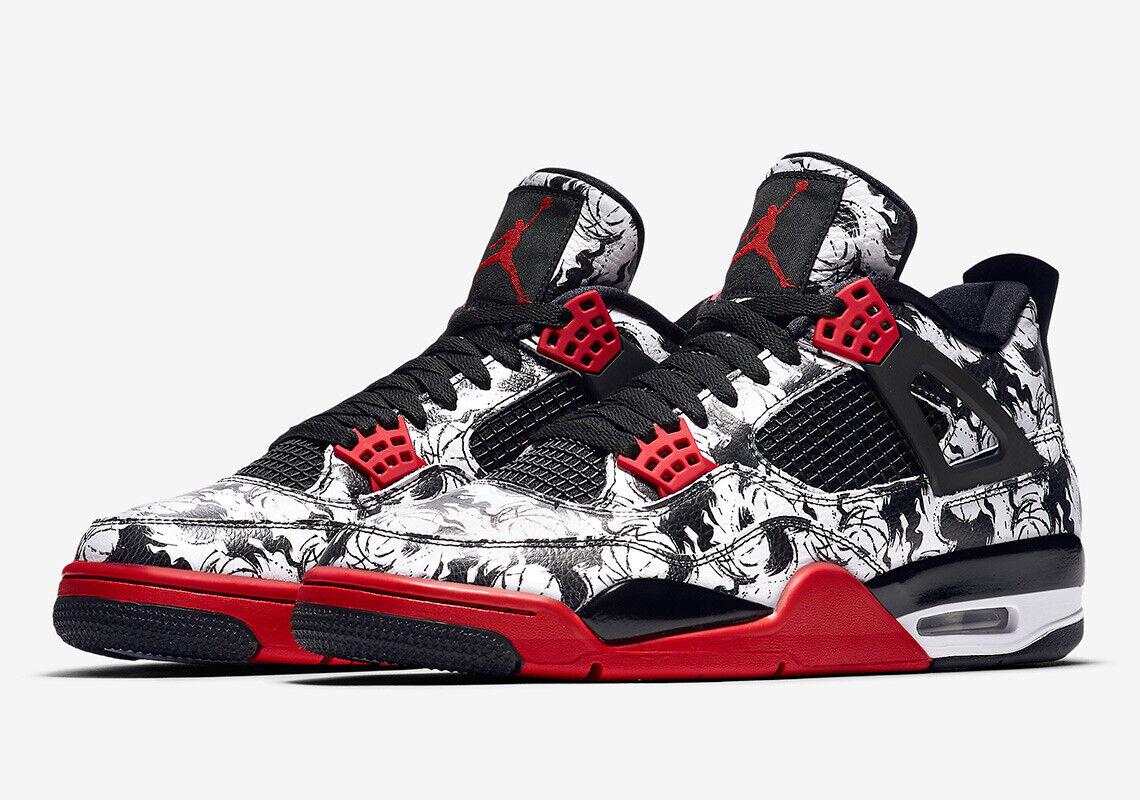 Jordan 4 Retro singles día Air  Tatuaje  Zapatos-BQ0897 006  Nuevos