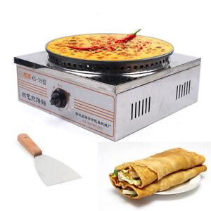 Commercial Crepe Maker Machine Pancake Cooker Griddle Machine w/ Shovel