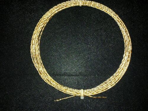 30ft ELF Custom Cables 24k Gold plated Twisted Pair  6N GPOCC Bulk wire 20awg.