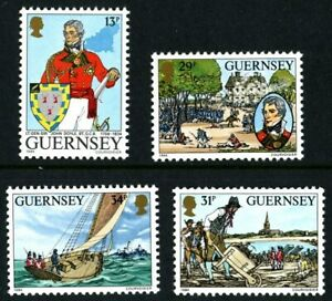 GUERNSEY 1984 JOHN DOYLE SET OF ALL 4 COMMEMORATIVE STAMPS MNH