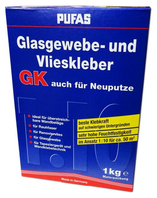 6x Glasfasertapete 50m² Glas Renovier Vlies Maler weiß glatt 50x1m 130g//m² TOP