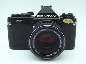 Copieux Pentax Mv Appareil Photo Reflex Avec Smc Pentax-m 50 Mm Objectif F/2-afficher Le Titre D'origine Bon GoûT