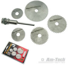 New 6PC HSS Saw Discs For Use With Rotary Tool Drills And Dremel *FREE POSTAGE*