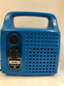 Sears Portable Mono 8 Track Player Vintage Blue Model 223.21010600