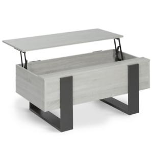 Table basse plateau relevable PHOENIX bois gris