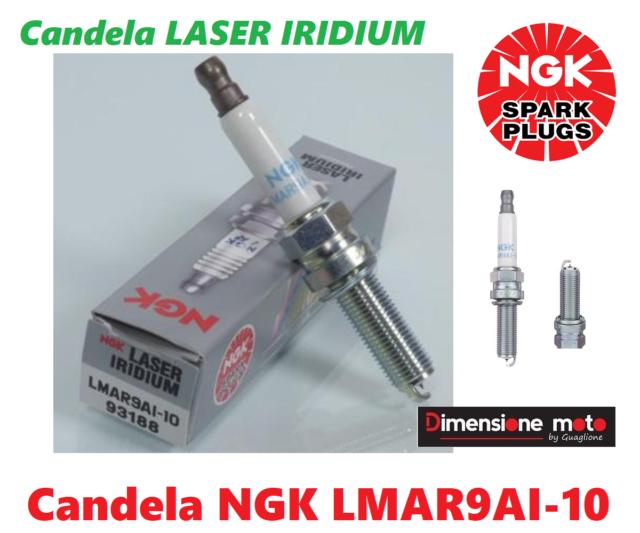 93188 - Candela NGK LMAR9AI-10 Laser Iridium per KTM EXC 450 F 4T dal 2018 >